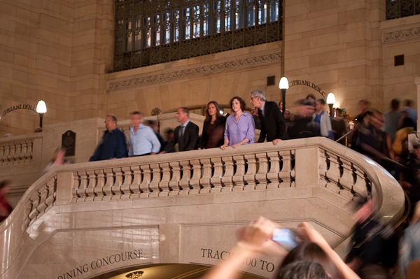 Law and Order filming in Grand Central station