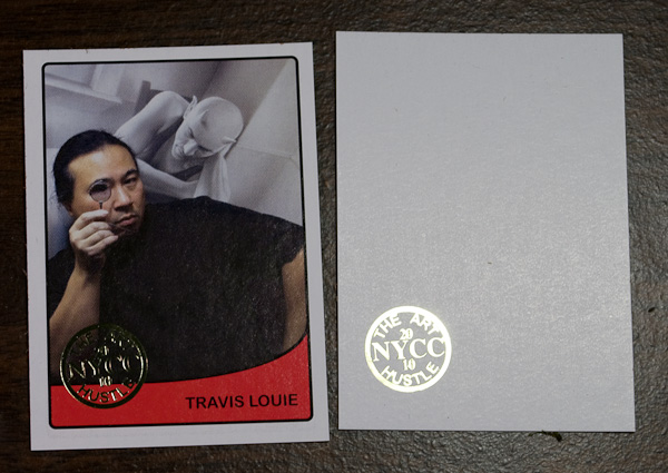 travis louie NYCC stamped trading card