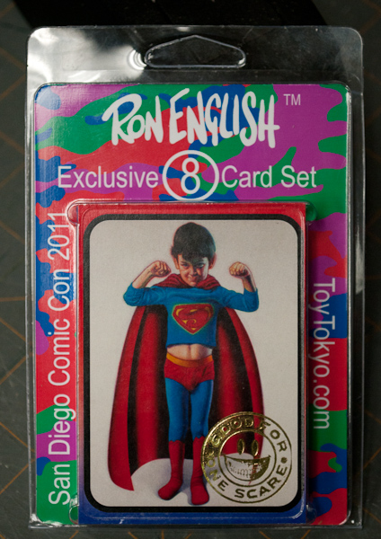 ron english 8 pack trading cards sdcc