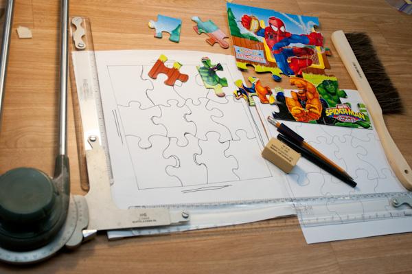 puzzle die cut design
