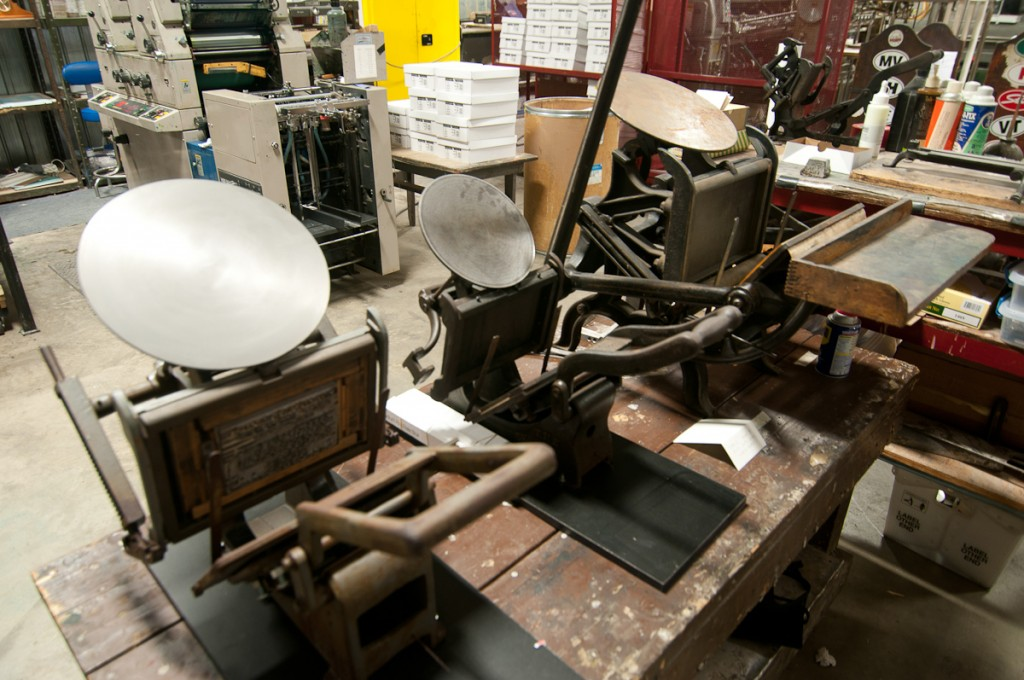 letterpress table top presses